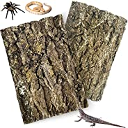 kathson Cork Tile Background Bark Terrarium Background Natural Reptile Climbing Mat Habitat Decor Terrariums D