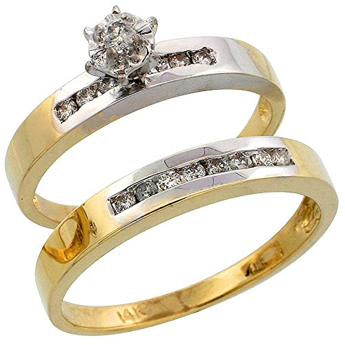 Shoppers Pride - Anillo de compromiso de oro amarillo