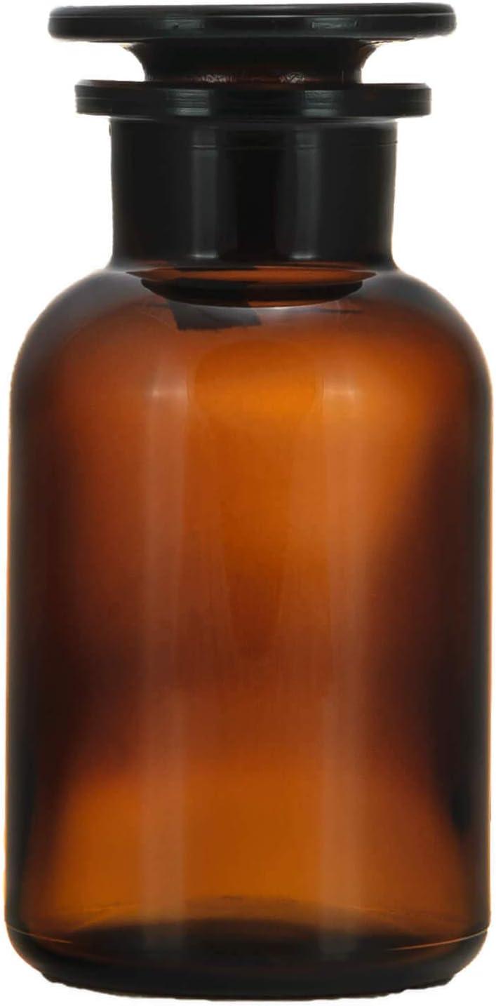 5x frascos de farmacia 100ml–Marrón–Incluye tapón de cristal * * * 5frascos botellas farmacia Cristal Stop Fen Botella Laboratorio Laboratorio Cristal Redondo escolar Ter Botella 5frascos bote