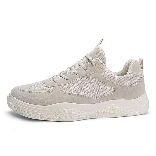 Zapatillas Deportivas de Hombre,riou Zapatos Running Fitness Sneakers Color sólido de los Hombres Zapatos Bajos Zapatos Gimnasia Antideslizante Malla Aire ...