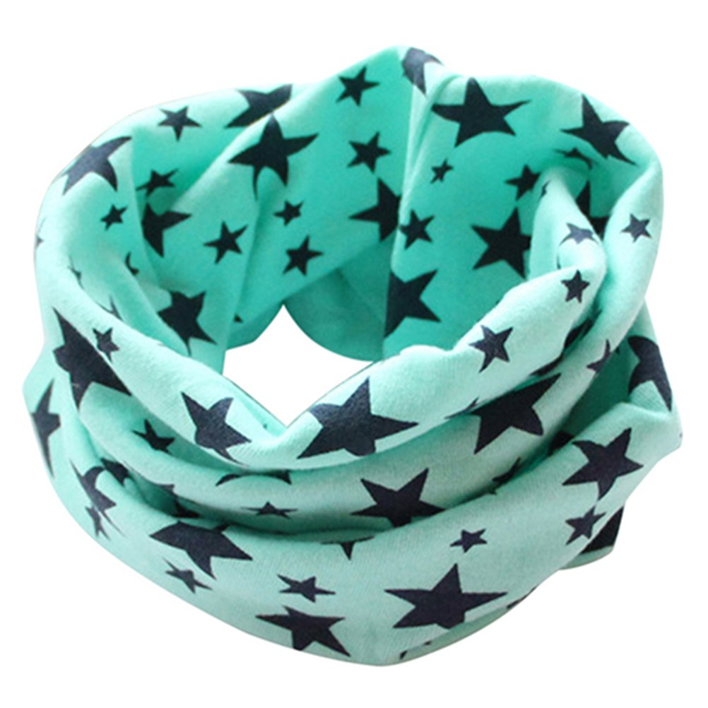 Profusion Circle Children Kids Stars Neckerchief Neck Warmer Cotton Scarf for Boys Girls