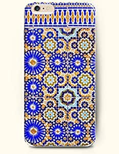 SevenArc Apple iPhone 6 Plus 5.5' 5.5 Inches Case Moroccan Pattern ( Blue and Orange Geometry )