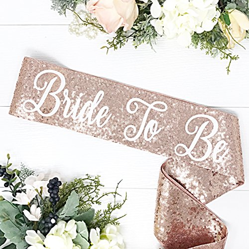 (Rose Gold Sequin Bachelorette Sash)