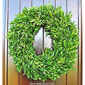 "Green Faux Boxwood Wreath for Interior or Exterior Decor Use 18-20"" Diameter 10"