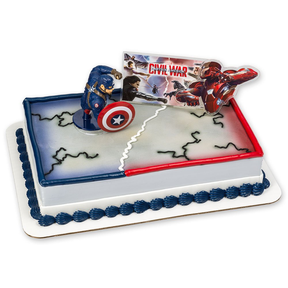 Amazoncom DecoPac Captain America Civil War DecoSet Cake Topper