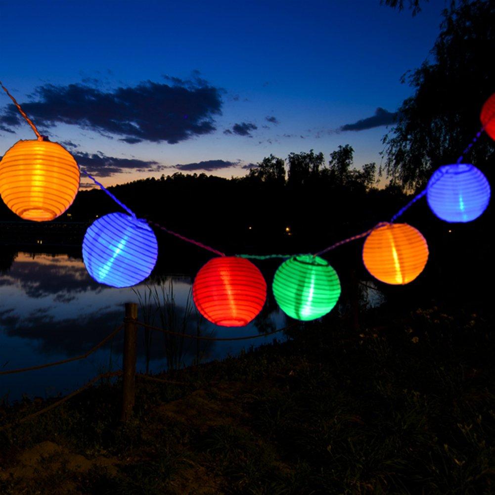 Uping® Led Lichterkette 20er Batterienbetriebene Lampions Laterne für Party, Garten, Weihnachten, Halloween, Hochzeit, Beleuchtung Deko usw. 3,6M multifarbig SLDL20m
