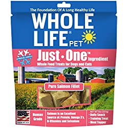 Whole Life Pet Single Ingredient Usa Freeze Dried Salmon Value Pack For Dogs And Cats, 8 Oz