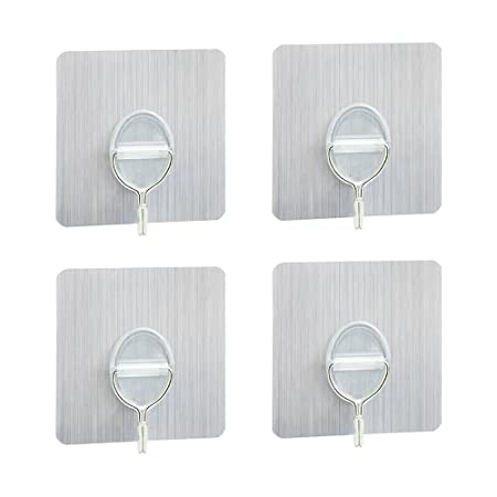 Wall Hooks 88 Lb4kg Adhesive Hooks With No Residue Marks