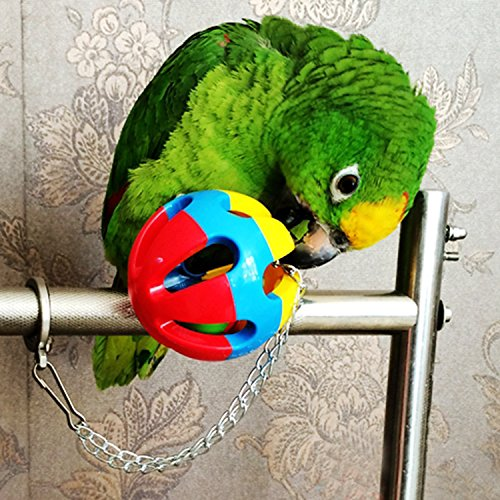 BWOGUE Bird Swing Toys with Bells Pet Parrot Cage Hammock Hanging Toy Perch for Budgie Love Birds Conures Small Parakeet Finches Cockatiels (5 Pack)