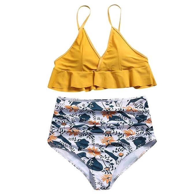 86cdee67686e Bikini Brasileño Bikini Estilo Bikini de Plisado con Estampado de ...