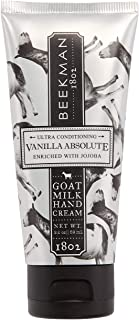 product image for Beekman 1802 - Hand Cream - Vanilla Absolute - Moisturizing & Hydrating Goat Milk Hand Lotion for Dry & Sensitive Skin - Daily Hydration - Goat Milk Hand Care - 2 oz