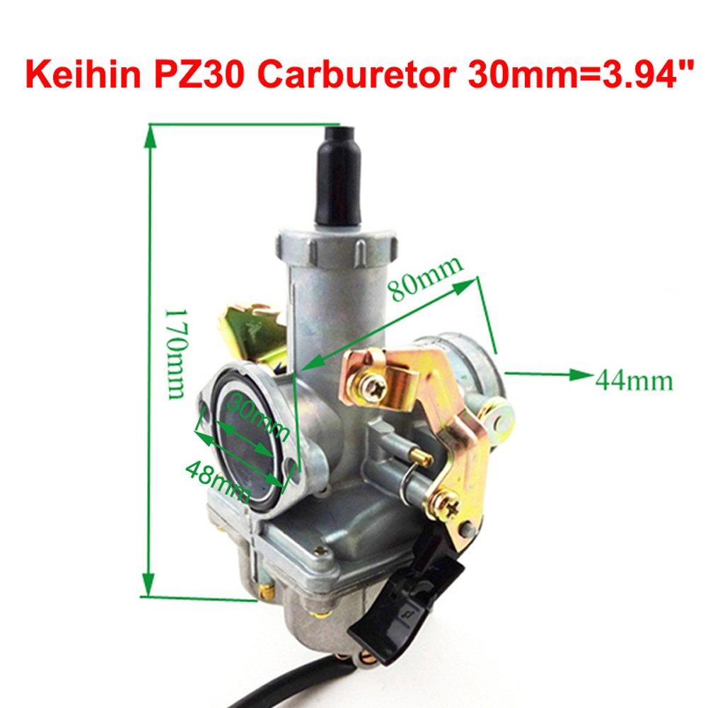 STONEDER PZ30/ Keihin Vergaser + Repair Kits + Gas Gaszug f/ür 250/cc Pit Bike ATV