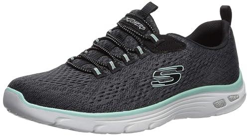 Skechers Relaxed Fit EMPIRE D'LUX Damen Sneaker Air cooled Memory Foam grau 12820, Schuhgröße:40 EU