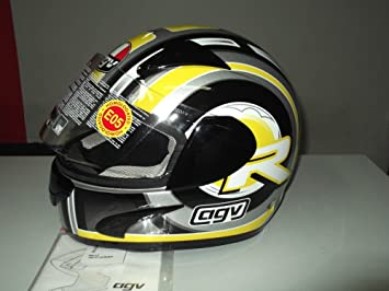 Amazon.es: casco Integral Moto agv GP-1 R Multi Color Amarillo/Negro/Plata TG.L