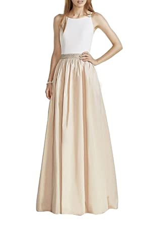 Dobelove Womens Fake Two Pieces Formal Prom Dress Evening Gown
