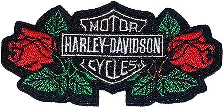 Harley Davidson Flames Sew-on Iron-on Embroidered Patch Biker HOG Chopper Bobber Badge