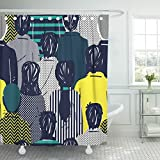 workaholics dye - Emvency Shower Curtain Set 66 x 72 Inch White People Doodle Crowd Workaholic Follower Teen Follow Hipsters Group Nerd Book Polyester Fabric with Hooks