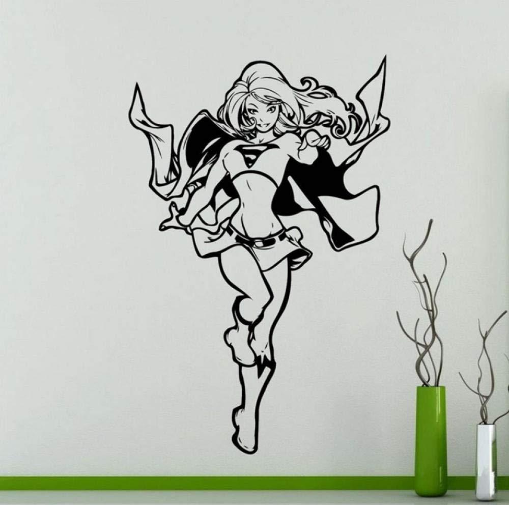 Creativo Supergirl Tatuajes de pared DC Marvel Comicsdecoración ...