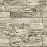 UrbanrArt Gorgeous Wood Plank Wallpaper Vinyl Non-Prepasted Textured Wallcoverings 289601
