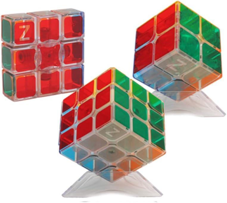 HJXDtech- Pegatinas Bastante Transparentes Cubo mágico 3 Pack Conjunto de 2x2 3x3 y 1x3x3 Cubo 3D Profesional Puzzle Velocidad de Juguetes educativos para los Adultos o los niños: Amazon.es: Juguetes y juegos