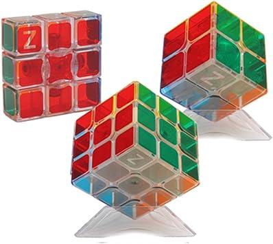 HJXDtech- Pegatinas Bastante Transparentes Cubo mágico 3 Pack ...