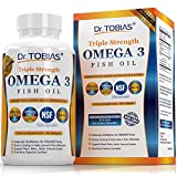 #9: Dr. Tobias Omega 3 Fish Oil Triple Strength, Burpless, Non-GMO, NSF-Certified, 180 Counts