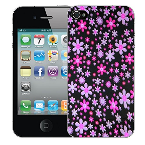 Mobile Case Mate iPhone 4s Silicone Coque couverture case cover Pare-chocs + STYLET - Pink Spray pattern (SILICON)