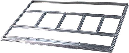 Gardiun KIS14006 - Estructura metálica para preinstalación de suelo casetas de 4, 72 m² - 2, 51 x 1, 71 cm: Amazon.es: Jardín