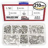 Hilitchi 210-Piece Metric M2 Hex Socket Flat Head Countersunk Bolts Screw Nut Assortment Kit - 304 Stainless Steel
