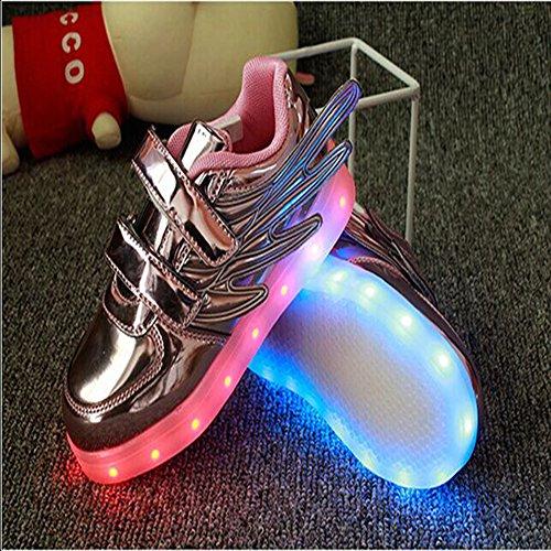 iiSport-Nouvelle 2016 printemps Sneaker rose pour bébé et petit enfant 7 Couleurs chargement USB LED Light chaussures de sport pour unisexe