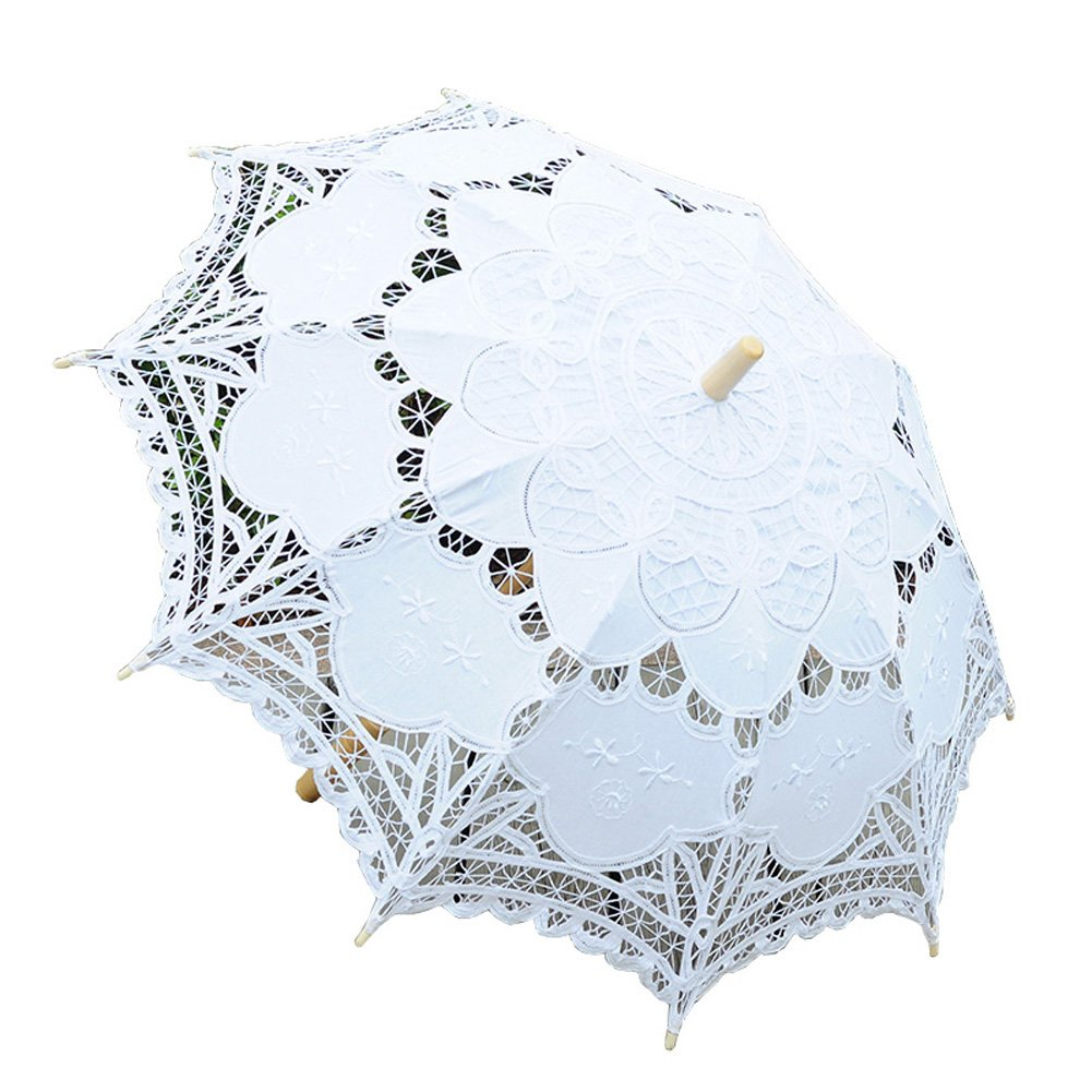 TBNA Bridal Lace Umbrellas Wedding Umbrella Bridal Parasol Umbrella for Bride Bridesmaid
