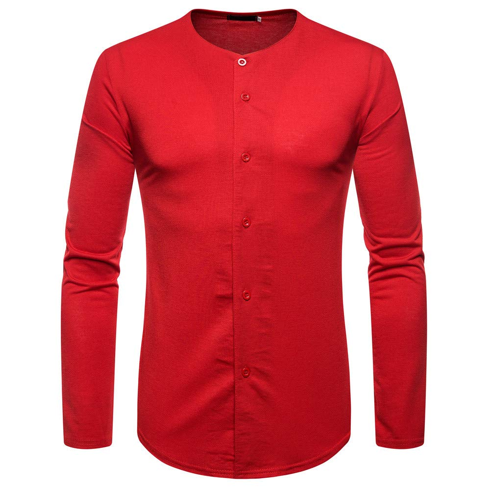 LIKESIDE Men's Autumn Winter Pure Color Joint Long Sleeved Hoodie Sweatshirts Top Blouse by LIKESIDE_mens clothes (Image #1)
