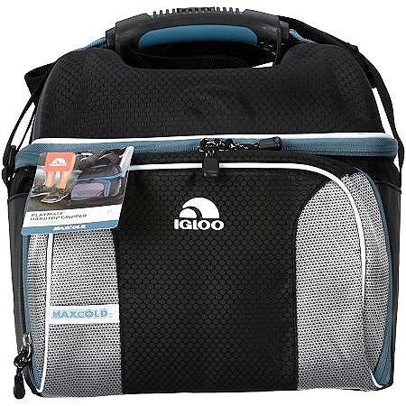 Ice - Cooler Bag. Hardtop Gripper Ice Chest, Black. This Ice Box Is The Best Way To Keep Food, Drinks & Beer Cool For Outdoor Party, Camping, Travel, Picnic, Fishing, Beach, Sports And Pool.