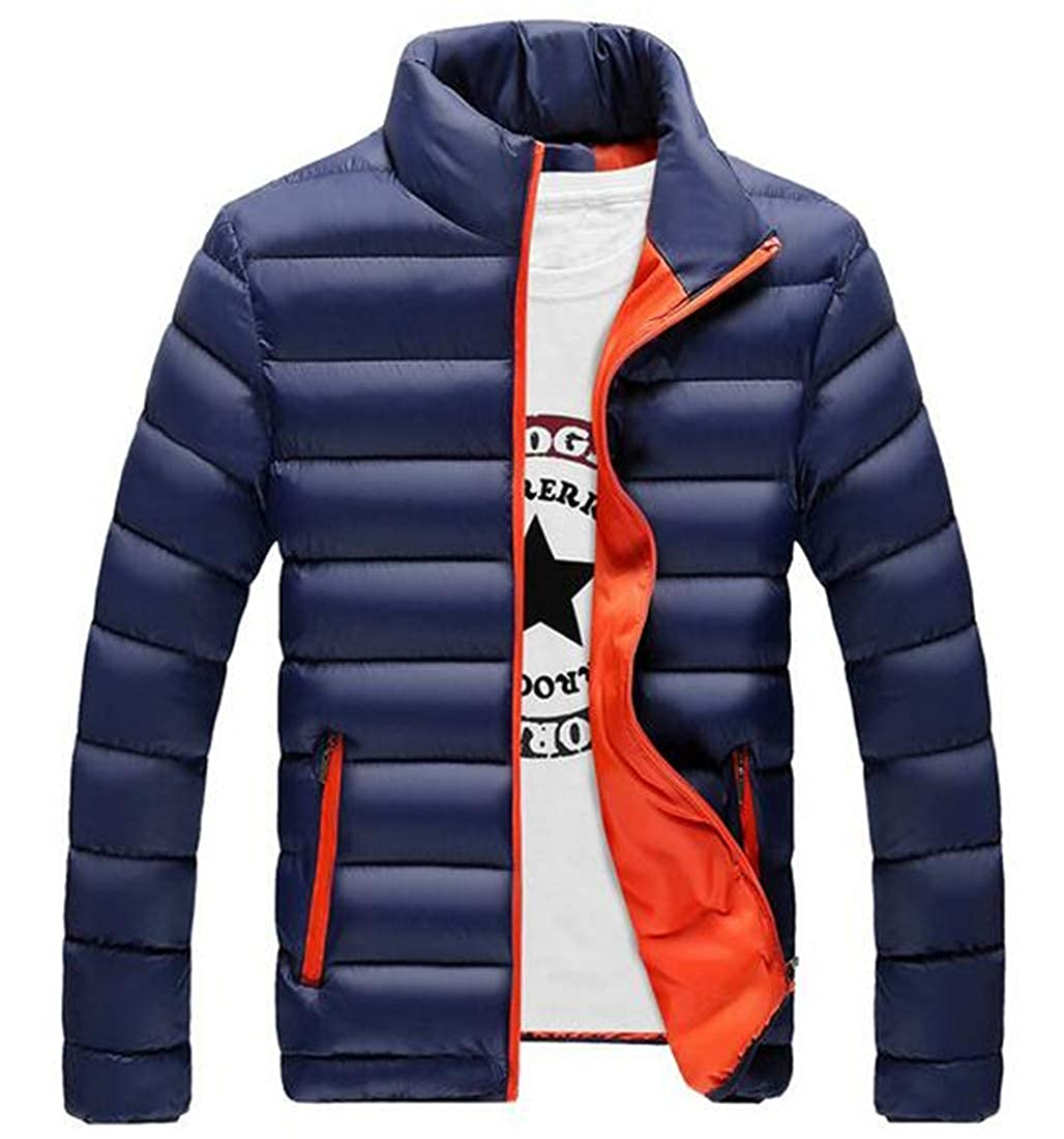 Nanquan Men Slim Fitted Warm Thick Zip Off Long Sleeve Quilted Packable Jacket