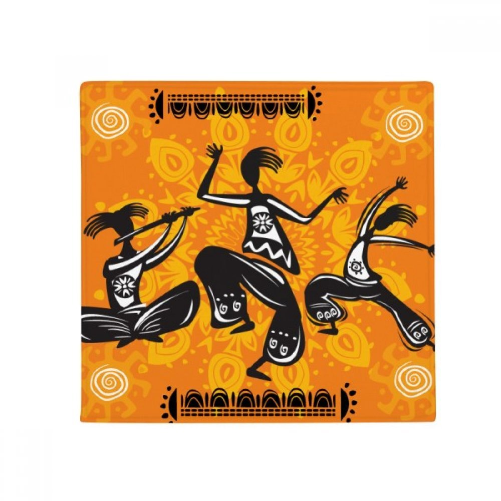 Dance People Mexico Totems Mexican Anti-slip Floor Pet Mat Square Home Kitchen Door 80cm Gift