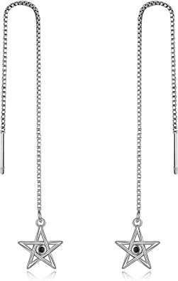 Three Style Simple Line Threader Earrings 925 Sterling Silver