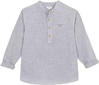 Gocco Camisa Villela Cuello Mao Gris Shirt para Niños