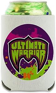 WWE Ultimate Warrior Logo Can Cooler - Drink Sleeve Hugger Collapsible Insulator - Beverage Insulated Holder