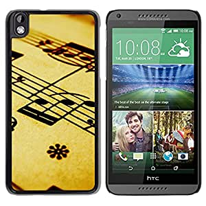 New Beautiful Custom Designed Cover Case For HTC Desire 816 With Music Composition Note Background Phone Case