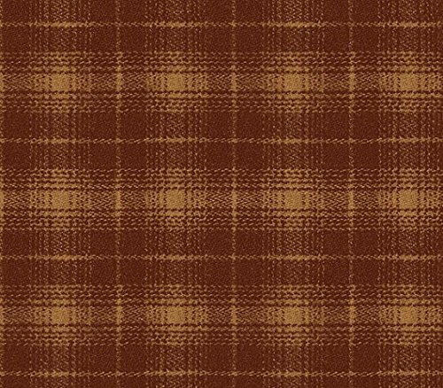 (Chesapeake LL51002 Nordic Plaid Wallpaper, Rust)
