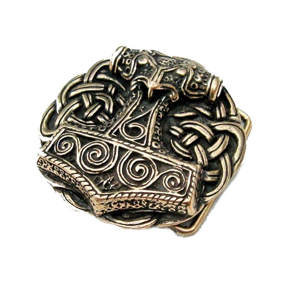 Fibbia della cintura–Martello di Thor in schonen–Vichinga–THOR–Odin–Martello, argento Battle Merchant