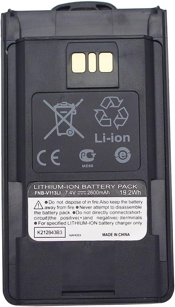 FNB-V113Li Battery For Vertex Standard VX-451 VX-454 VX-459 Portable Radio