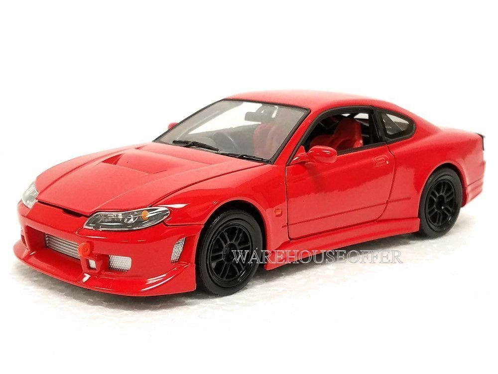 NEW 1 24 DISPLAY WELLY COLLECTION RED NISSAN SILVIA S 15 Diecast Model Car By Welly