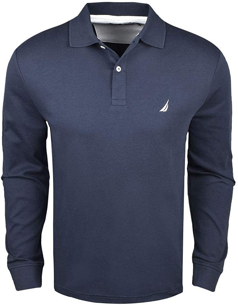 Nautica Long Sleeve Interlock Knit Polo Navy XL: Amazon.es: Ropa y ...