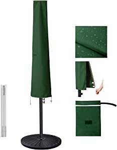 Garden Balsam Umbrella Cover for 6ft to 10ft Patio Umbrellas, Waterproof and Durable Market Umbrella Cover with Zipper and Rod