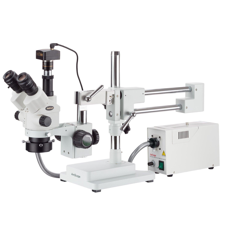 Amscope 7 x 114 x simul-focal Stereo-Zoom Mikroskop mit einem Glasfaser Ring Licht und 3 MP Kamera B0719B3GCF | Spielzeugwelt, spielen Sie Ihre eigene Welt  | New Style  | Smart