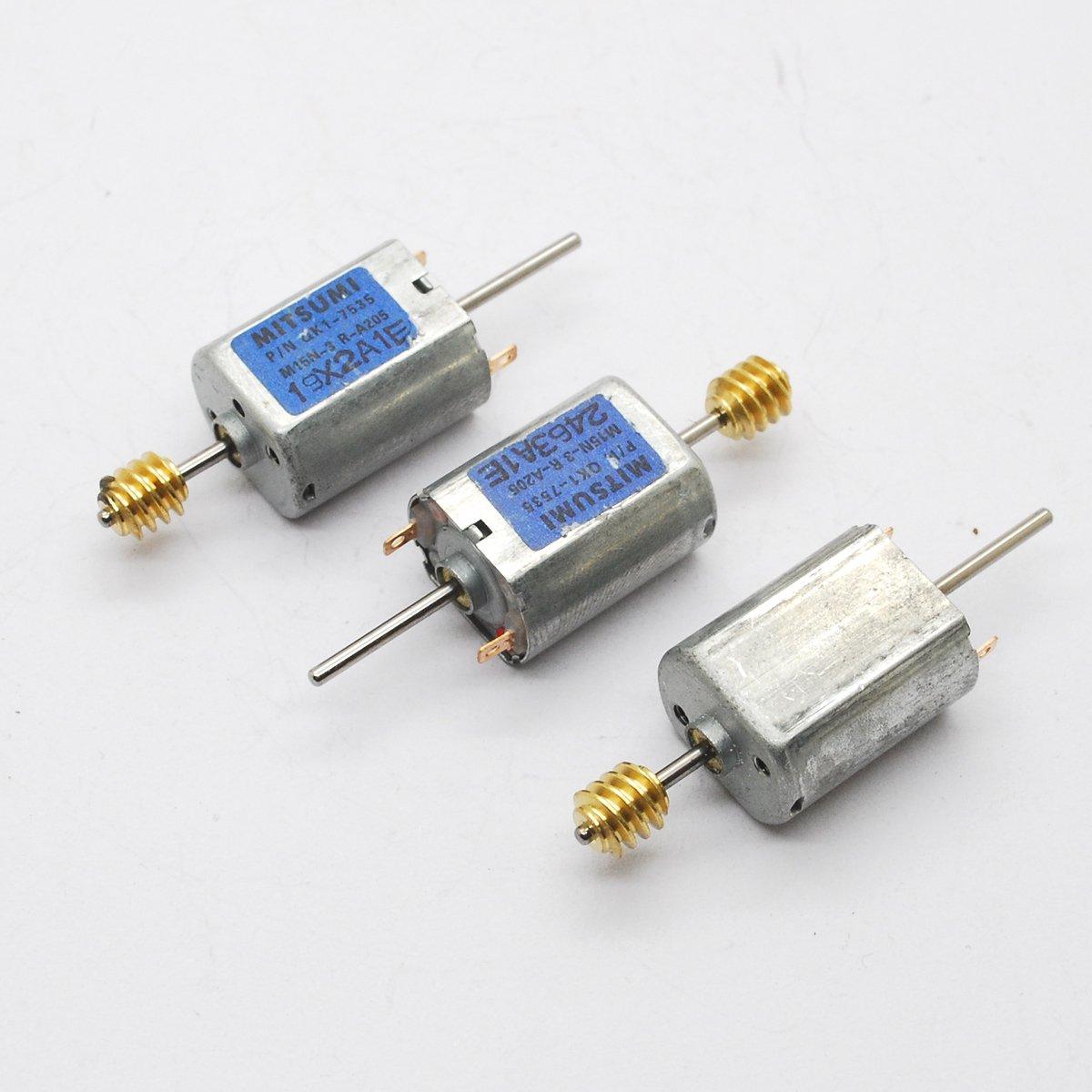 3個 DC マイクロモータ 鉄カバー 12V 030 2軸 カーボンブラシモーター 13500 RPM   B00MTD0A24