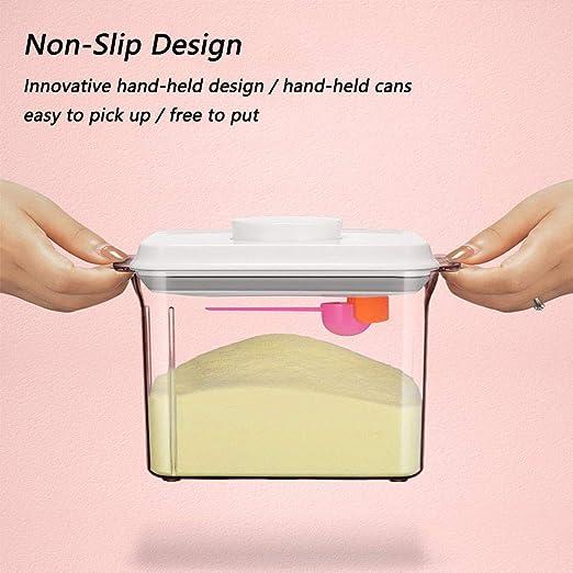 Cereals Snacks Formula Powder Dispenser Tragbarer Versiegelter Lebensmittelbeh/älter F/ür Milchpulver BPA-freier Milchpulverbeh/älter