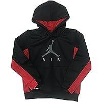 Nike Air Jordan Boys Therma-Fit Pullover Hoodie Sweatshirt Black Red
