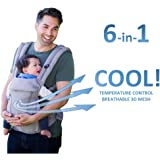 All Seasons 360 Ergonomic Baby Carrier - 6 Position, No Infant Insert Needed, Adapt to Growing Baby, Suitable for Newborn, Infant & Toddler, Best Baby Shower Gift